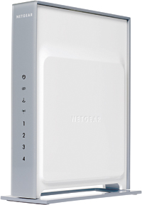 Front of Netgear DG834N home network router