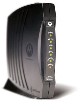 Netgear router's power and status lights